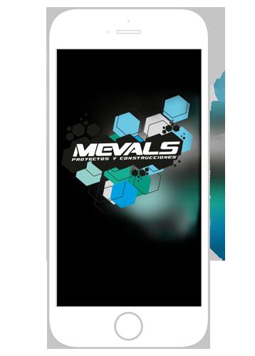iphone con logo de mevals